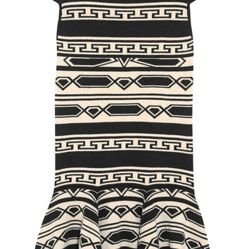 Alice + Olivia - Darby intarsia knitted mini dress