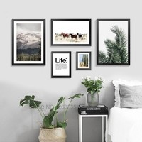 Landscape Posters And Prints Wall Art Canvas Painting Wall Pictures For Living Room Nordic Poster Desert Scenery Unframed