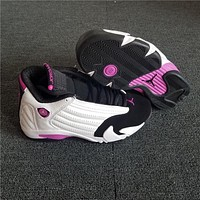Air Jordan 14 Retro Black/white/pink Basketball Shoe 36 40 | Best Deal Online