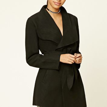 Belted Draped-Front Jacket