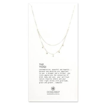 Dogeared The Yogi, Draped Dangling Bead Necklace - Sterling Silver, Gold