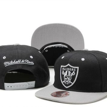 Oakland Raiders Nfl Cap Snapback Hat - Ready Stock