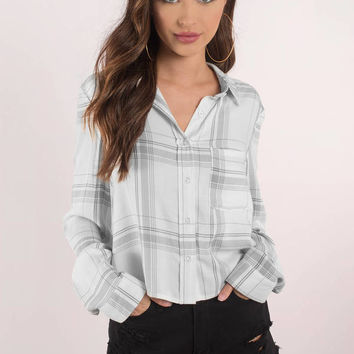 Amanda Button Up Crop