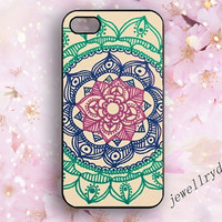 Flower iPhone Case,Floral iPhone 5/5s case,iPhone 4/4s Case,iPhone 5c Case,psychedelic mandala samsung galaxy s3 s5 case,beauty flower,cool