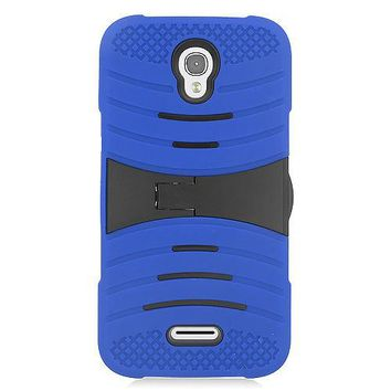 Alcatel One Touch POP Astro Hybrid Silicone Case Cover Stand Blue