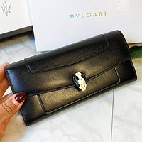 Bvlgari New fashion leather wallet purse handbag Black