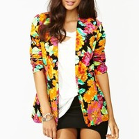 Neon Bloom Blazer