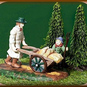 """Taking Grain To The Mill"" Dept. 56 Dickens Village accessory Item #58545. Introduced 2001 and retired 2003."