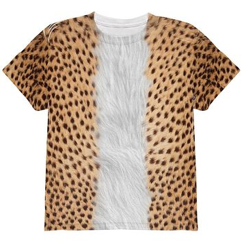 Halloween Cheetah Costume All Over Youth T Shirt