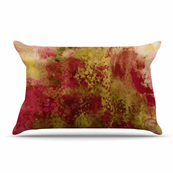 "Ebi Emporium ""Epoch 4"" Red Green Pillow Case"