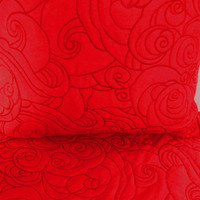 "Cotton red  King size quilted bedspread with 2 pillows in size 114x120"" and 20""X36"""