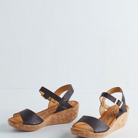 ModCloth Sweet and Savor It Wedge in Licorice