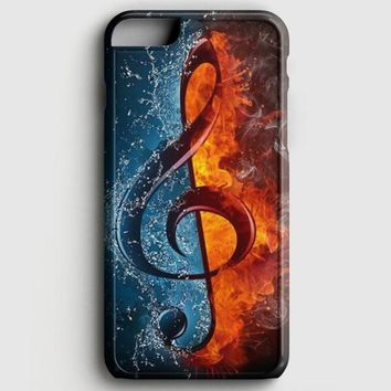 Music Note Flames iPhone 6/6S Case