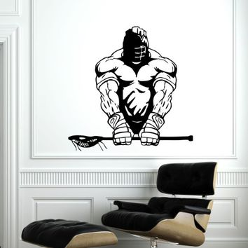 Lacrosse Player Wall Decal Vinyl Sticker Decals Lacrosse Sport Athlete Sportsman Home Decor Kids Vinyl Sticker Wall Decal Nursery Bedroom Murals Playroom Nursery Art (6077)