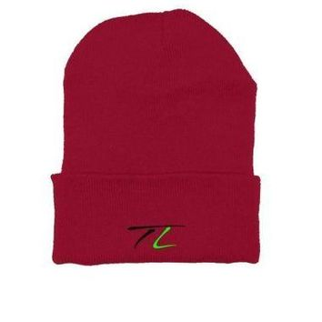 TeeLish signature embroidered beanie