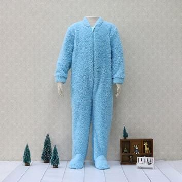 both-side raised flannelette One Pieces Bodysuits Kids pajamas Children sleeper Zipper Warm Baby Boys Clothes christmas
