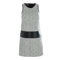 4.collective Womens Faux Trim Sleeveless Wear to Work Dress