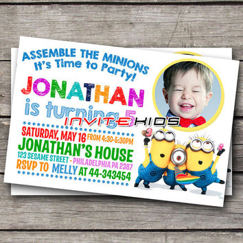 Landscape Minions Time Party Kids - Invitation Card - Birthday Party Kids - InviteKids