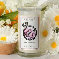Black Cherry Blossom Ring Candle