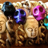 Buddha and Skull Buddy Layering Bracelets