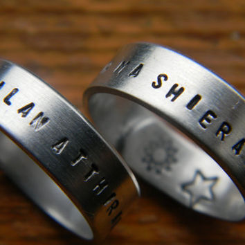 DOTHRAKI game of thrones inspired TWO wrap rings ''my sun and stars'' &'' moon of my life''