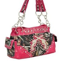 PINK CAMO WESTERN DOUBLE GUN PURSE