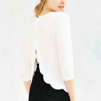 Cooperative Scallop-Back Blouse