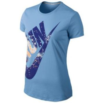 Nike Dri-Fit Cotton Run Swoosh T-Shirt - Women's at Lady Foot Locker