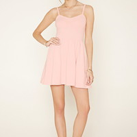 Crochet-Trim Skater Dress | Forever 21 - 2000177827