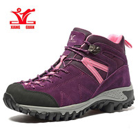 XIANG GUAN Woman Hiking Shoes AntiSlip Chukka breathable Genuine Leather Sneaker Couple Outdoor Hiking Sport Camping Shoes 96978
