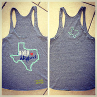 Born & Raised Texas B&R Athletic Tank