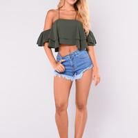 Desert Dreams Frayed Shorts - Medium