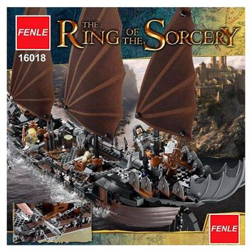 2017 New Lepin 16018 Genuine The lord of rings Series The Ghost Pirate Ship Set Building Block Brick Toys 79008