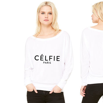 Celfie Paris women's long sleeve tee