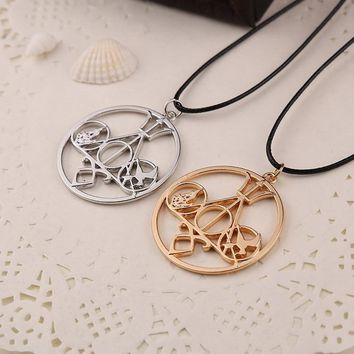 Fashion Movie Necklace Mix The Mortal Instruments Hunger Games Divergent Percy Jackson Necklace For Collection