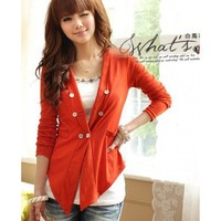 Orange Apparel Women New Style Spring Slim Clothing Cotton Coat One Size @GP0001o $12.57 only in eFexcity.com.