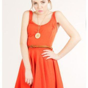 SOLID KNIT A-LINE DRESS @ KiwiLook fashion