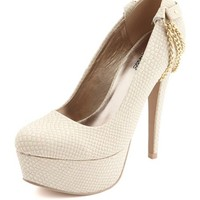 Chain Back Snakeskin Pump: Charlotte Russe