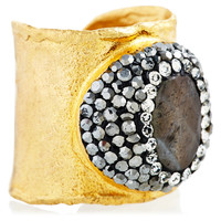Labradorite & Swarovski Ring, Stone & Novelty Rings