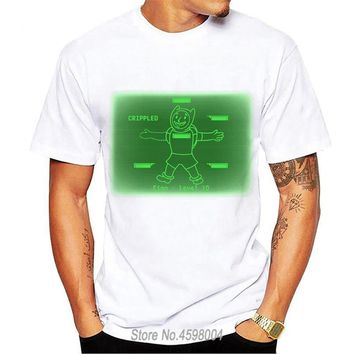Funny Cheapest Round Collar  Funny Tshirt Fallout 4 Vault Boy T-Shirt Crippled T Shirt Homme euro size