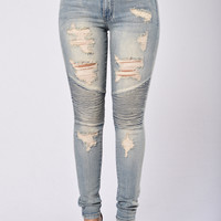Now or Never Moto Jeans - Renegade