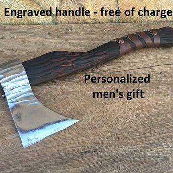 Viking axe, mens gifts, viking armor, runes art, runes decor, runes etched, runes gift for boyfriend, handyman tool, handyman gift, dad gift