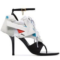 White Hybrid Leather Sneaker Heels by OFF-WHITE
