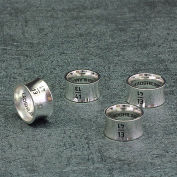 """""""BLINDREASON"""" Simple Personality Wide Version Digital Unisex Ring Romantic Couple Little Finger Ring"""