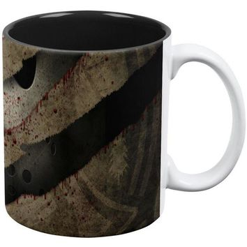DCCKU3R Halloween Horror Movie Mask Slasher Attack All Over Coffee Mug