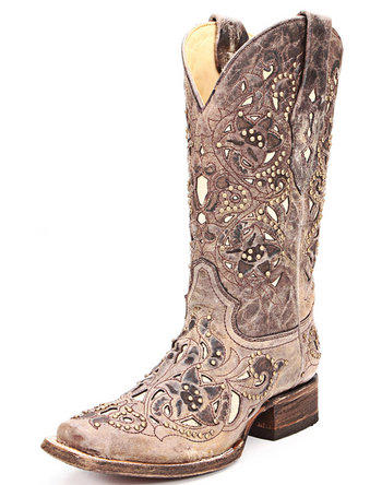 Corral Ladies Square Toe Brown Crater From Stages West Boots