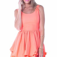Bubbly dress in neon coral | SHOWPO Fashion Online Shopping