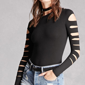 Ladder Cutout Bodysuit