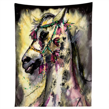 Ginette Fine Art Arabian Stallion With Headdress Tapestry