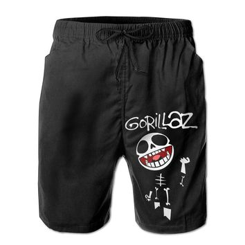 Bonesy Band Gorillaz Skull Mens Fashion Casual Beach Shorts